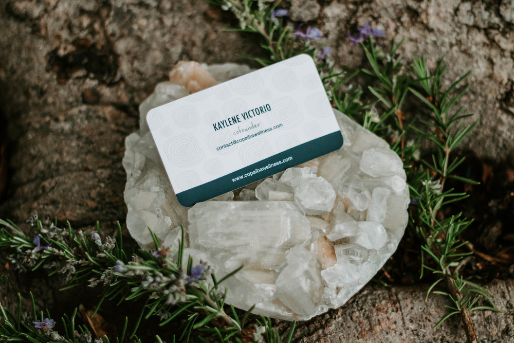 Wellness Business Card | design by Alvarado Creative Co.