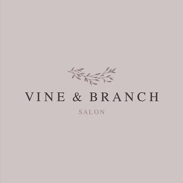 My hairstylist fulfilled her childhood dream of opening up her very own salon and enlisted me to help brand it! . Kelly is kind, passionate about the people and things she cares about and a HARD worker with a lot of industry knowledge and experience. I have so much respect and love for her. Congrats @vineandbranchsalon on opening your doors + thank you for letting me play a part!!! 💇🏼‍♀️🎊