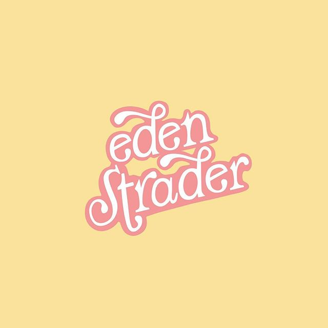💥Happiest of launch weeks to the queen of color @edenstrader!!! We took the same custom lettering I worked up for her brand in 2017, stacked her name & basically just kicked up the fun and flavor x10000! Now she (yes she, the logo) fits right into the colorful home Eden has created for her. 💓