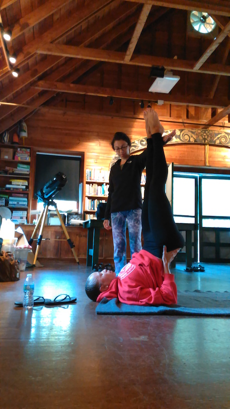 Teaching Shoulder Stand, Sarvancasana