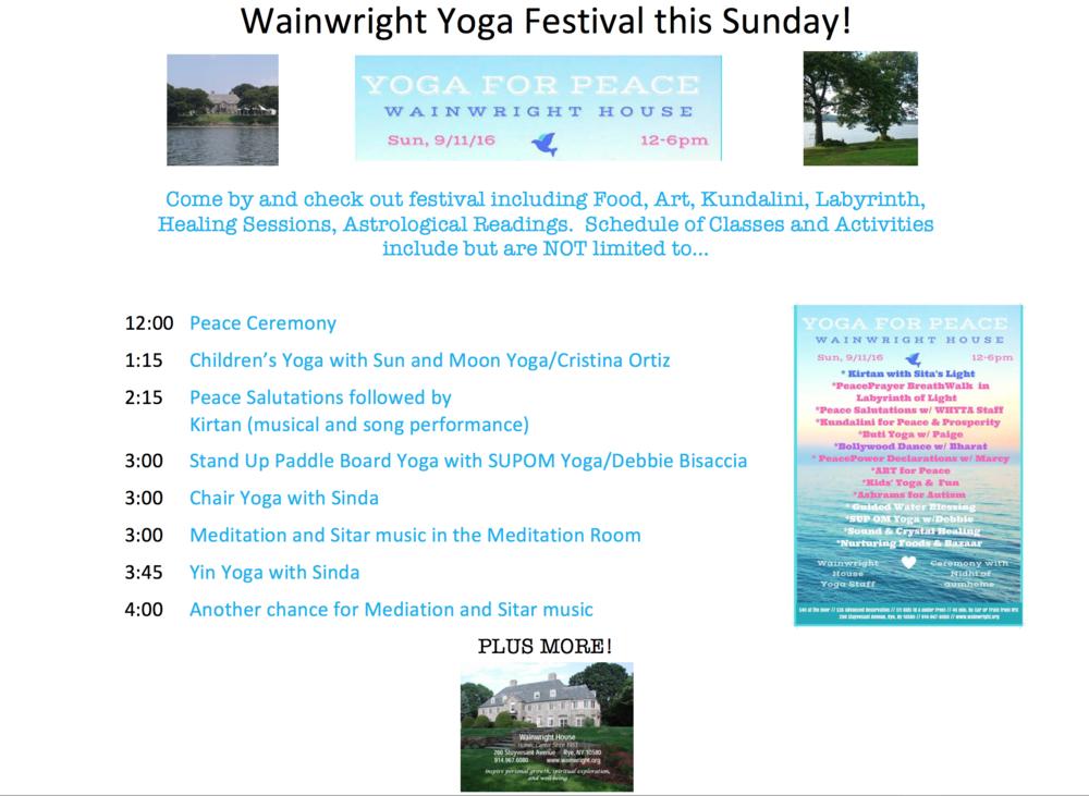 yoga festival flier