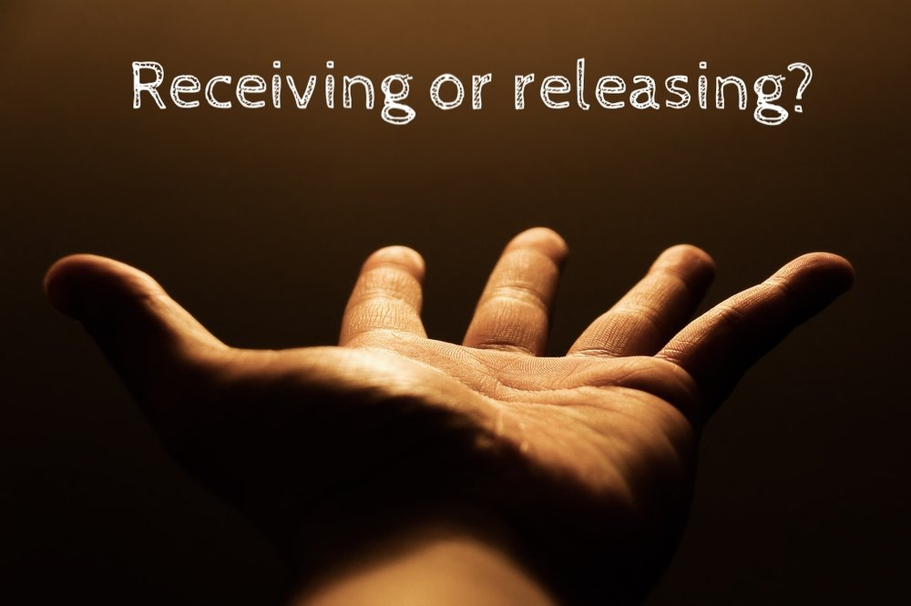 Receiving or releasing?
