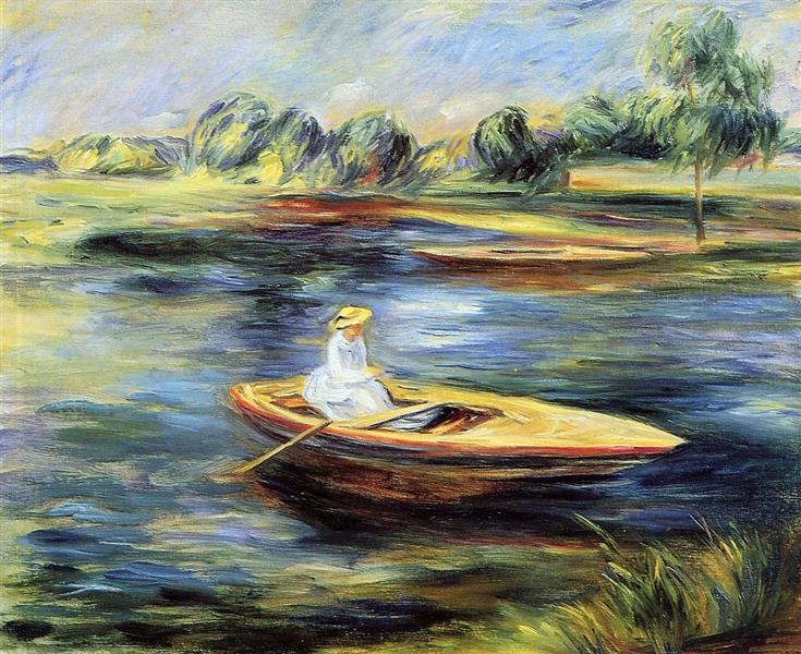 Young Woman Seated in a Row Boat, Renoir