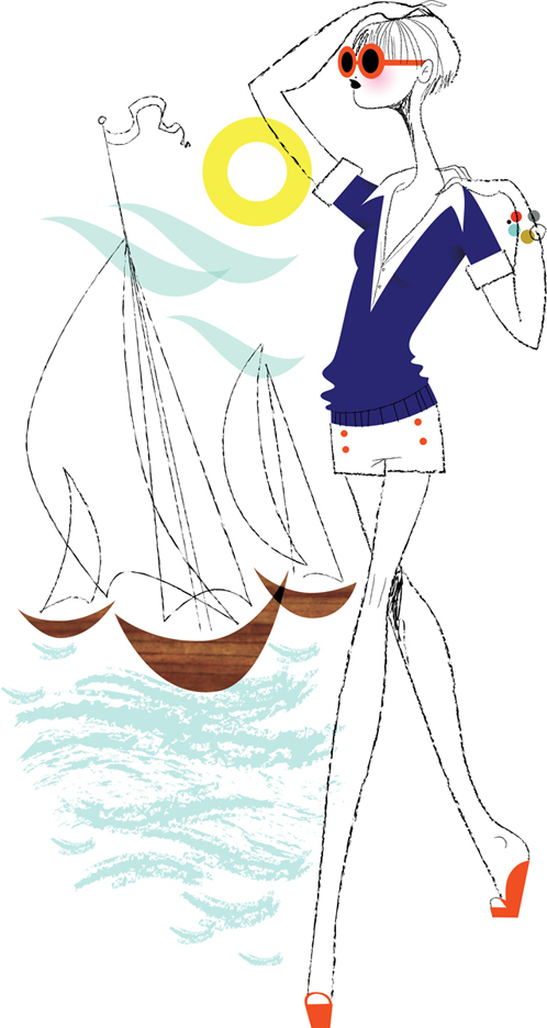 Sailing Girl, InStyle Magazine
