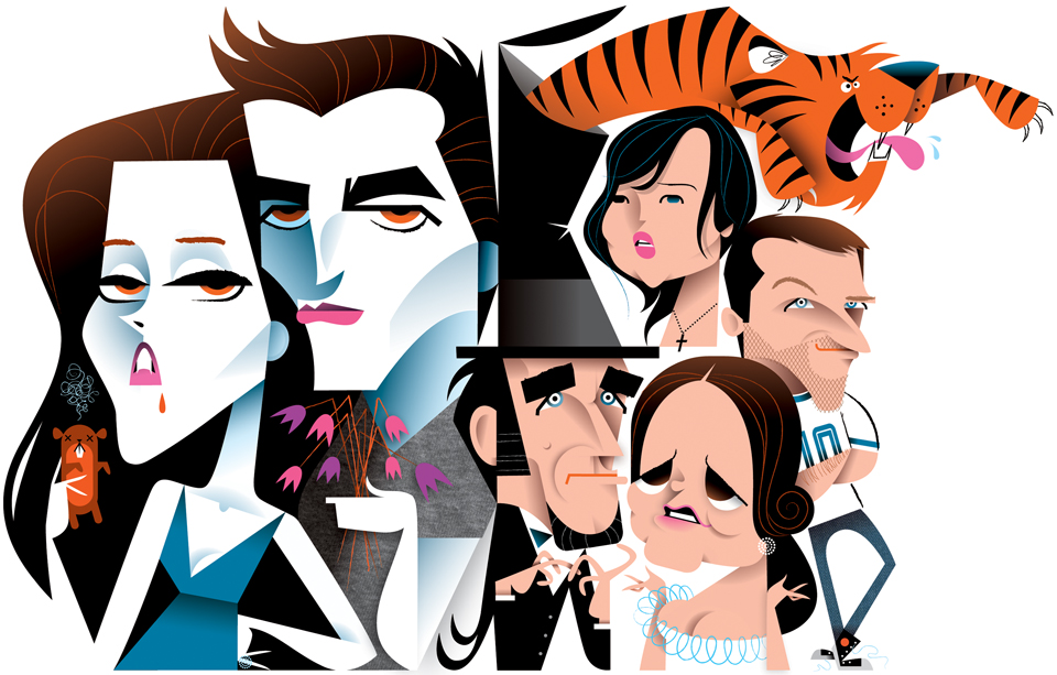 Caricature bunch for Entertainment Weekly