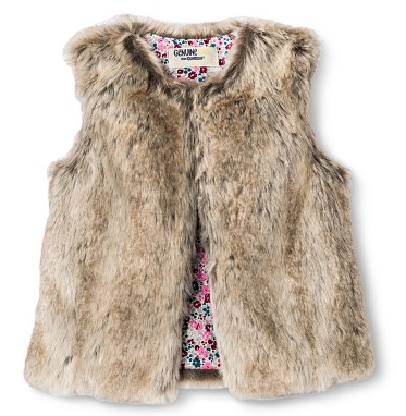 Genuine Kids from Osh Kosh at Target - Infant Toddler Girls' Faux Fur Fashion Vest, $15-