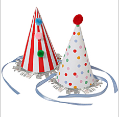 Flora + Henri Toot Sweet Party Hats, $9.95-