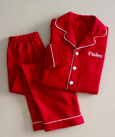 Chasing Fireflies Kids Personalized Luxe Flannel PJ's, $49-