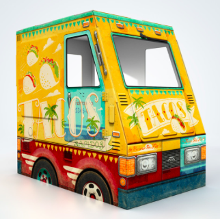 Famous OTO Taco Truck, $59-