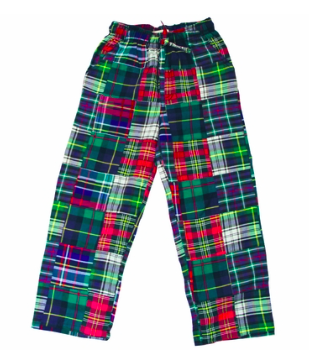 Jack Thomas Boys Preppy Blue/Multi Patchwork Plaid Sleep Pants, $40-