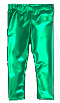Orient Expressed Kelly Green Skinny Foil Legging, $32-