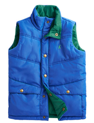 Joules Boys Padded Vest, Dark Blue.png