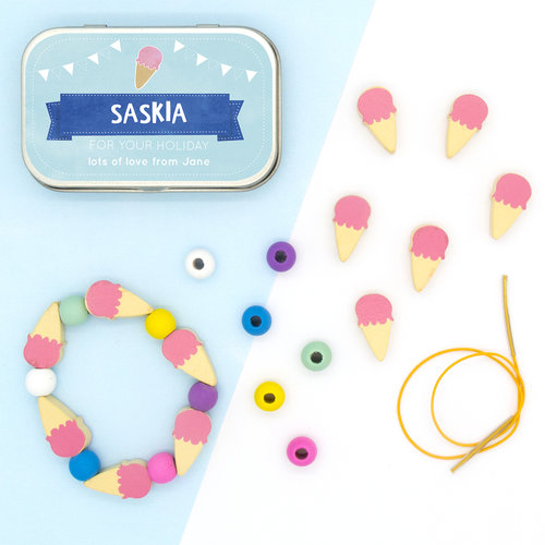 Cotton Twist Personalised Ice Cream Bracelet Gift Kit, $8.34-.jpg