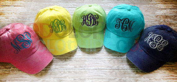 Red Elephant Clothing (Etsy) Monogram Toddler Baseball Hat, $15-.jpg