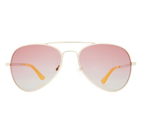 Winkniks Emmett Brushed Gold Pink Grapefruit Gradient Sunglasses, $45-.png