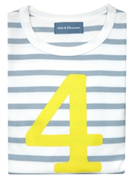 Bob & Blossom Grey & White Breton Striped Number Tee, $27-.jpg
