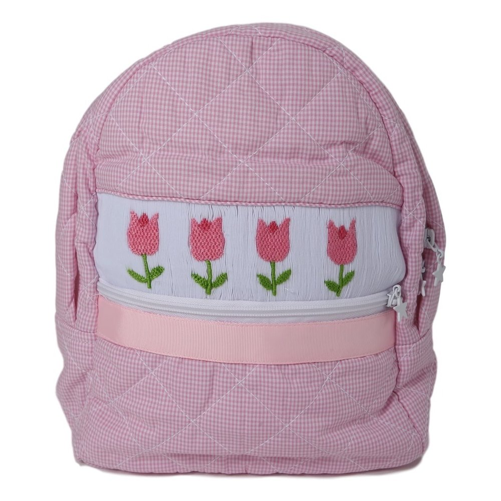 Cecil and Lou Gingham Quilted Smocked Tulip Backpack, $29-.jpg