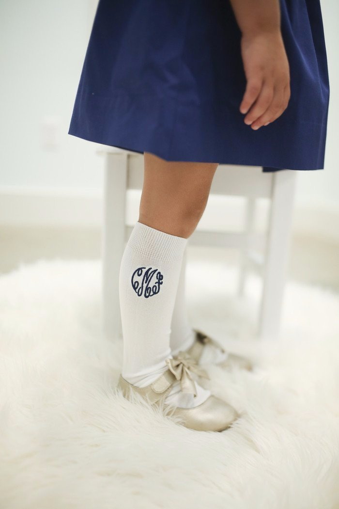 Cecil and Lou Monogrammed Knee Highs, $8-.jpg