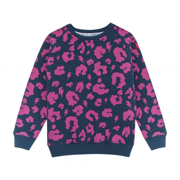 Scamp + Dude Hot Pink Leopard and Lightning Sweatshirt, $48-.jpg