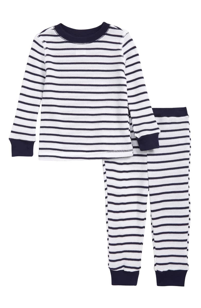 Something Navy Fitted Thermal Two-Piece Pajamas, $35-.jpeg