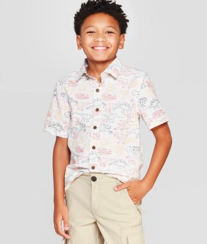 Target Boys Dino Button Down Shirt, $10-.png