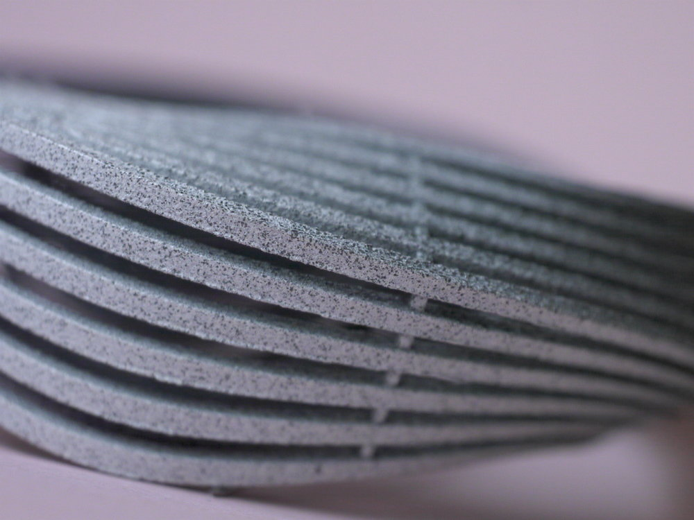 3d printed brooch, detail, 2016
