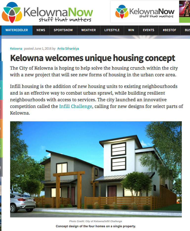 KelownaNow - Kelowna welcomes unique housing concept - June 1, 2016
