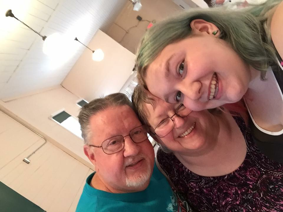 My Dad, Mom, and oldest Daughter Sarah