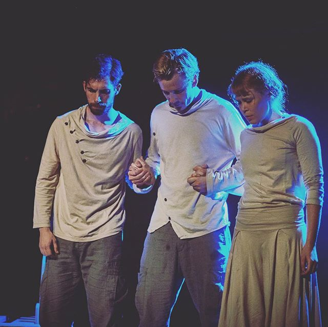 """Throwing it back to """"The First Man"""" by @wilhartsnewyork ... our first show as a company!! We're so excited to be working with another incredible team for our upcoming production of """"Holy Day""""... link in the bio on how you can help make it happen 🎭🙏🏻"""
