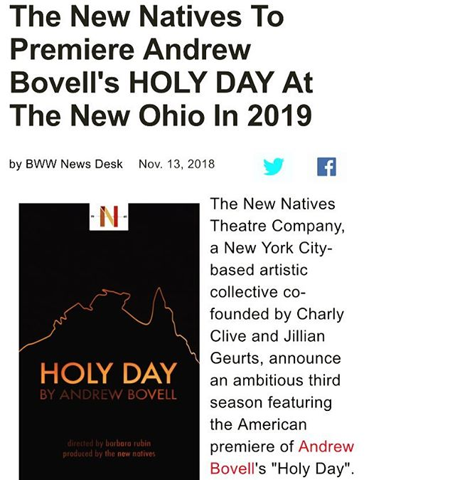 We're in @officialbroadwayworld ❤️💪🏻 So exciting to see all our work coming together. Please please help us make this beautiful show a reality by donating to our @fractured.atlas page. It will only be possible with your help and every little bit counts! HD2019 coming at you ☀️🎭 . . . . . #indietheatre #internationalwriters #expat #australianhistory #theatre #history #supportartists