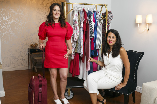 Lawyer Ilyse Dolgenas (left, in an A.L.C. dress and No. 6 shoes )  tapped celebrity stylist Stephanie Tricola (right) to help her pick looks for her upcoming Nantucket vacation.