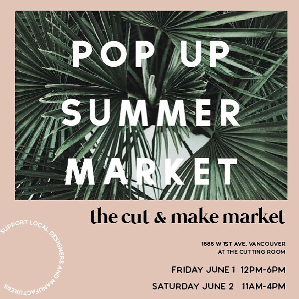 Looking forward to being part of @thecuttingroomofficial market on June 1st and 2nd! We've also still got @malarys Trunk Show at the end of May so there will be lots of opportunities to try on our clothes in person!