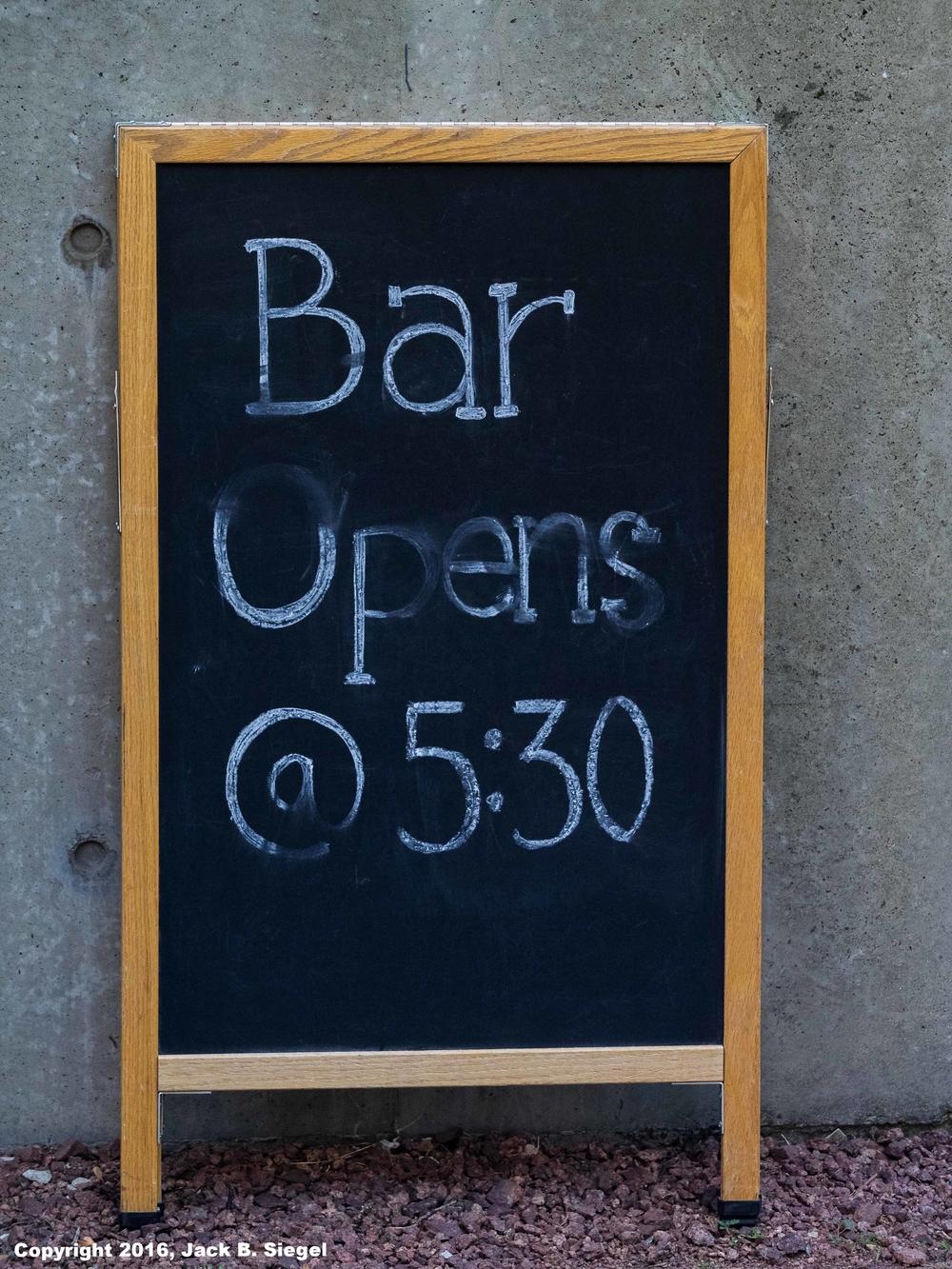 Bar Opens @ 5:30PM