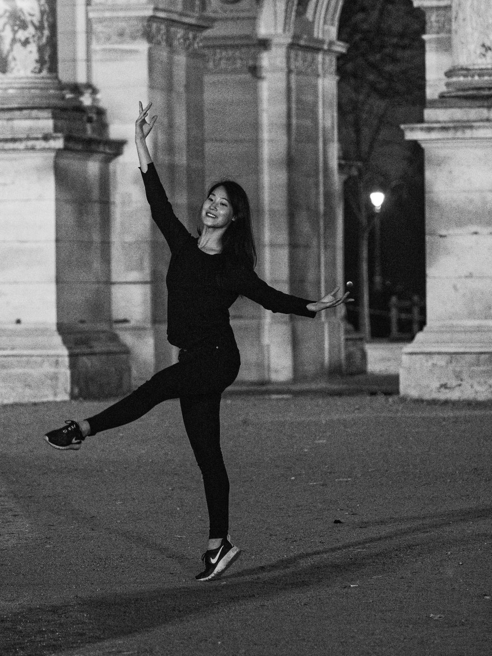 Dancer in Front of the Arc de Triomphe du Carrousel