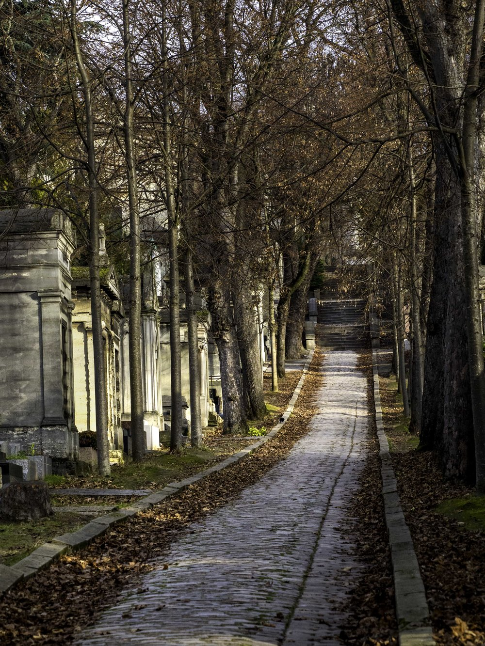 Père Lachaise Cemetery: Alleyway of Tombs and Mausoleums