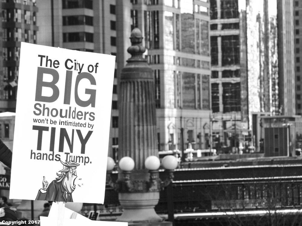 The City of Big Shoulders Protests Trump