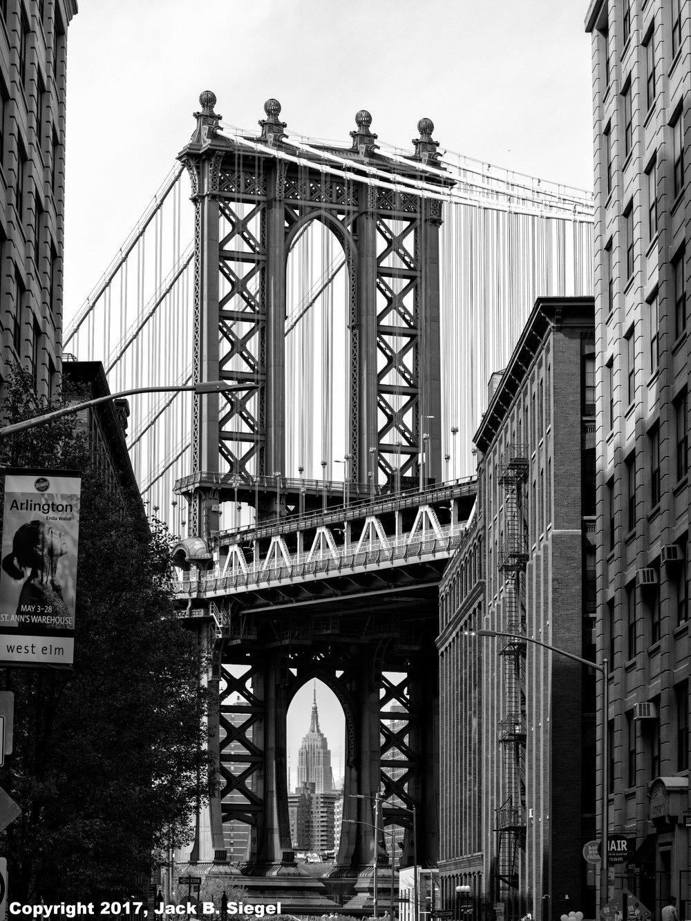 The Manhattan Bridge as Seen From Dumbo