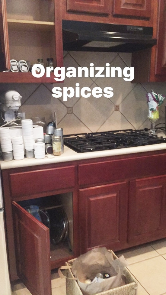 Trying to get the kitchen organized