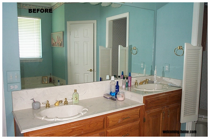 outdated fixtures, cabinets, notice saloon door