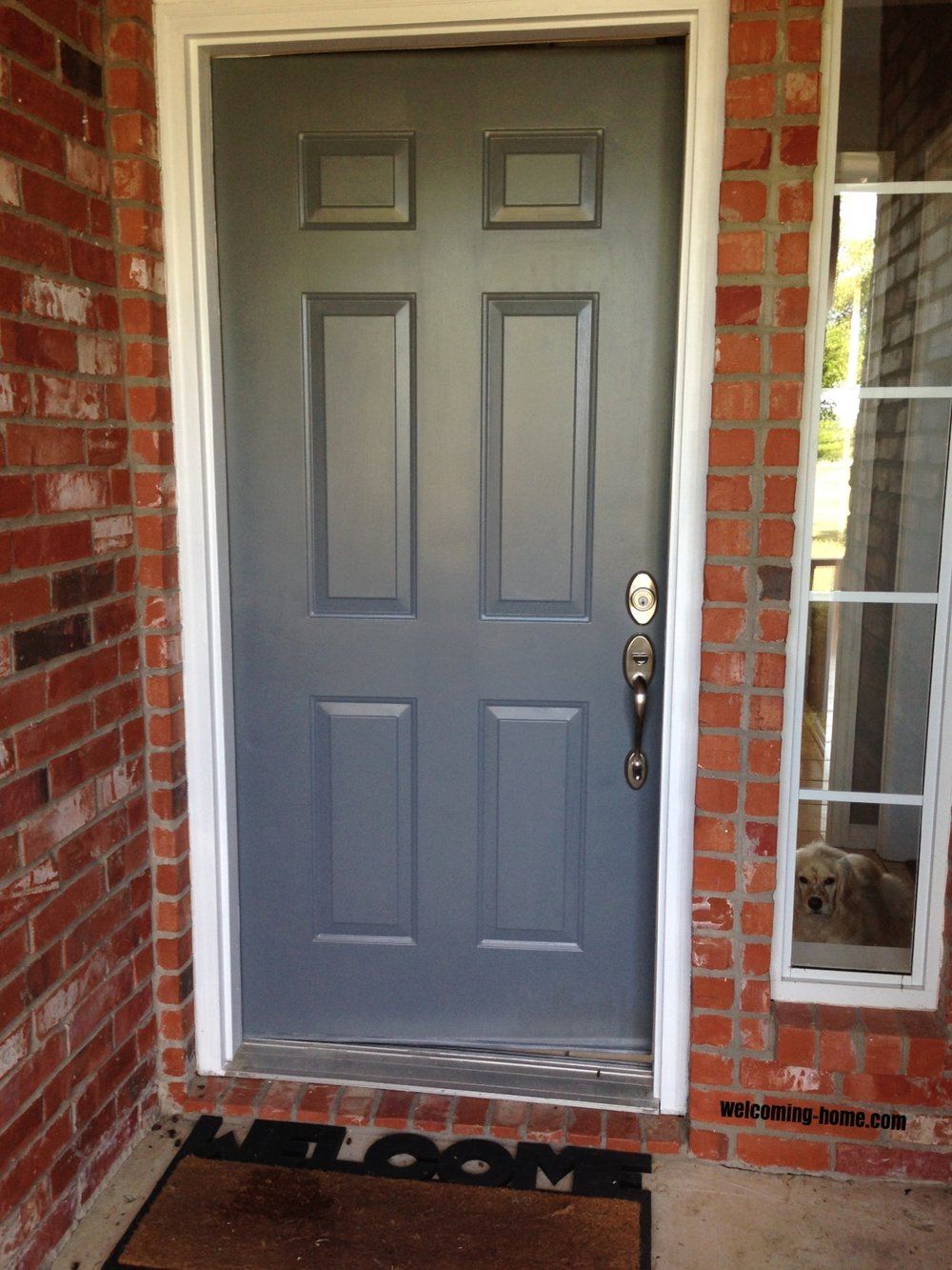 front door painted
