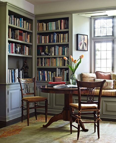 #8 Home Libraries  - With all the technology these days, books are still loved by many. There's a generation out there looking to rekindle this love by having home libraries. If your like me books are a plenty.Photo cred: One Kings Lane