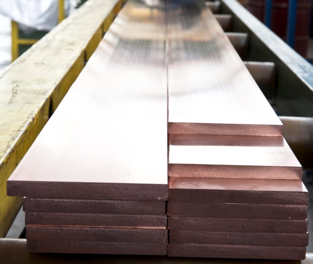 Copper & specialty materials used in custom metal fabrication.