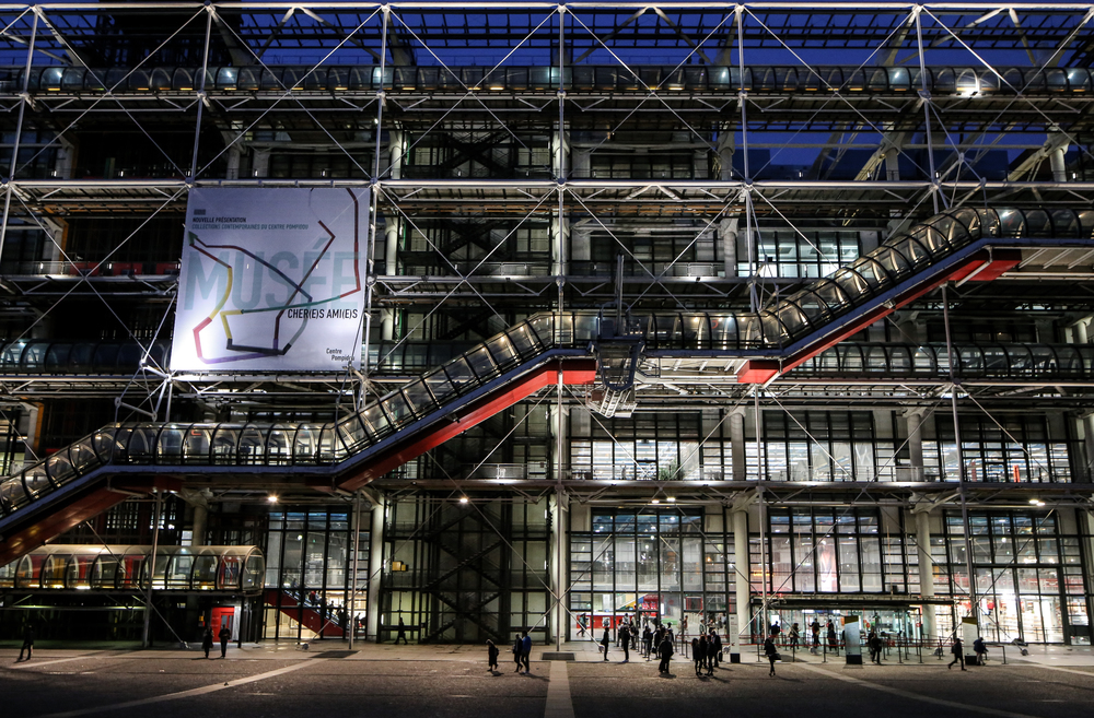Centre Georges Pompidou - Paris, France - Renzo Piano, Richard Rogers, Peter Rice, Gianfranco Franchini, Mike Davies