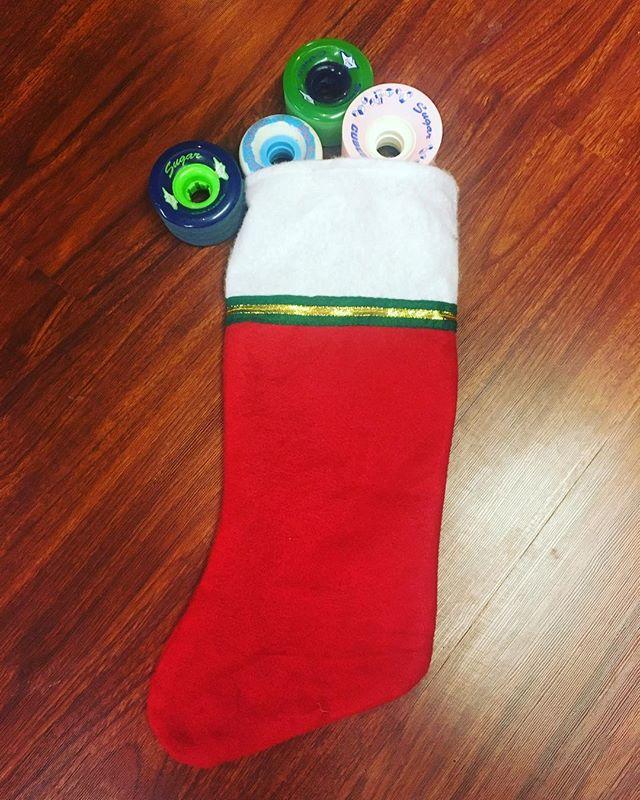 The perfect stocking stuffers! #sugarurethane #longboardwheels #stocking #wheels #slidewheels