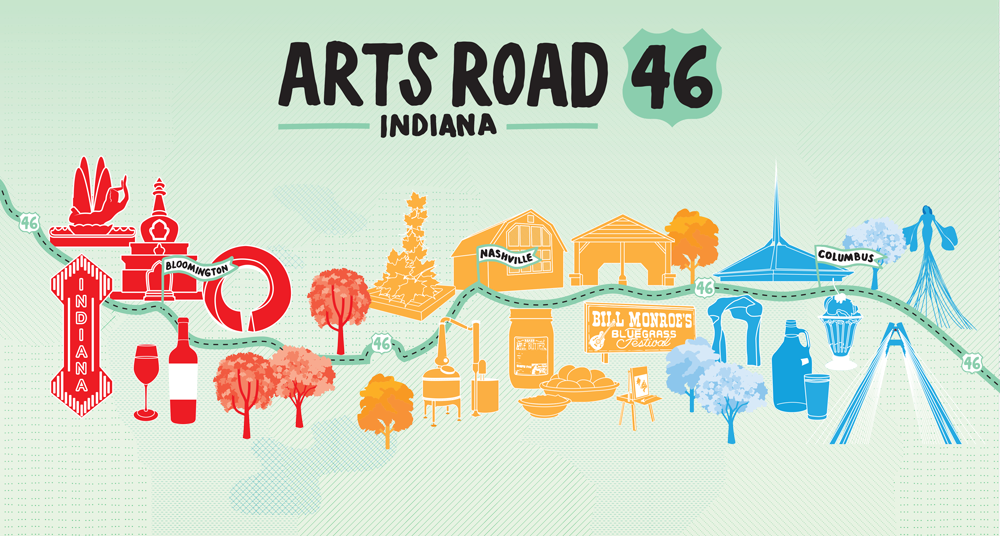 ArtsRoad 46  logo + map design