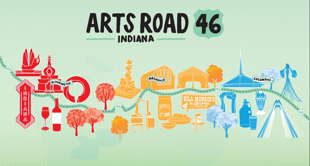 ArtsRoad 46  logo + map design