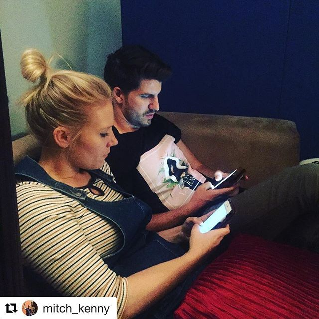 #Repost @mitch_kenny ・・・ Pretty sure these two are texting about how this is their favourite writing session EVER. @jess_and_matt @jack_prest @apraamcos @50songsin5days #apraamcos #50songsin5days #instagram  #songhubs #texting