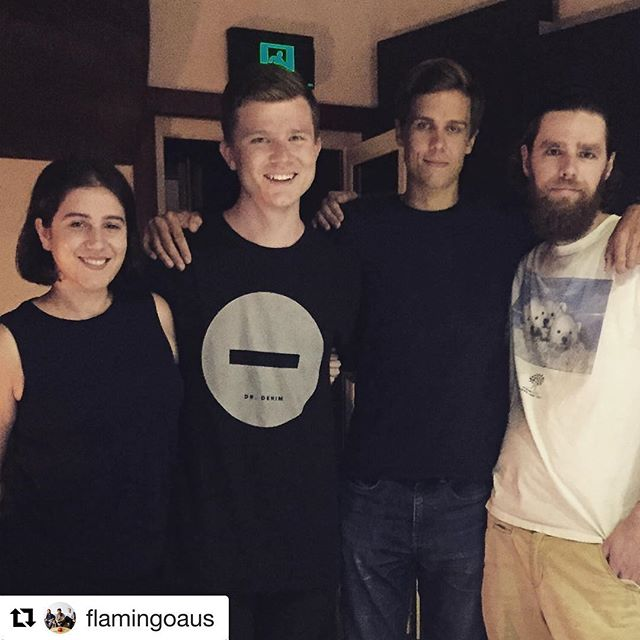#Repost @flamingoaus ・・・ Today's crew for #50songsin5days  what blast!  #songhubs #apraamcos  #specificmusic