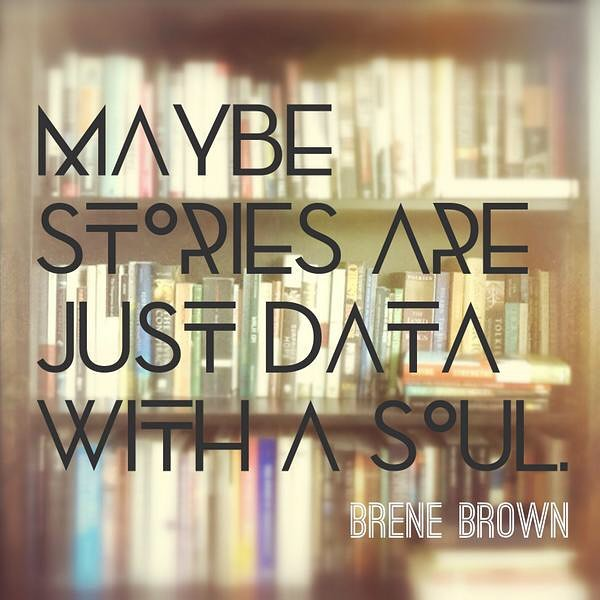 Maybe Stories are Just Data with a Soul!!! I meannnnnn ok, never looked at it like that but damnnn. Sorry I'm currently doing A LOT of data entry at work so when I saw this I got carried away 😅Everything and I mean everything that has happened is just another data entry. It all adds up to who you are at that moment in time. Our experiences are a part of who we are and those experiences can help us be more empathetic to others. - Anna from Your Truth Foundation ❤️💜