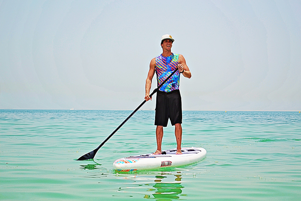 Improve your core muscles with SUP